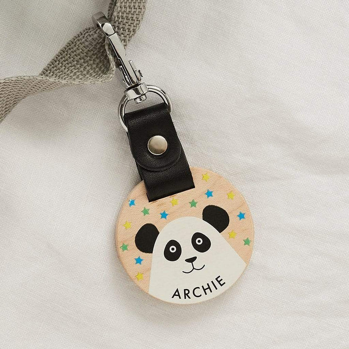 Personalised School Bag Tag Panda Create Gift Love