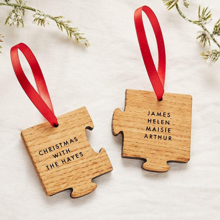 Personalised Two Piece Jigsaw Decoration Set Create Gift Love