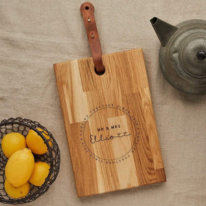 Personalised Wood Chopping Board Wedding Create Gift Love