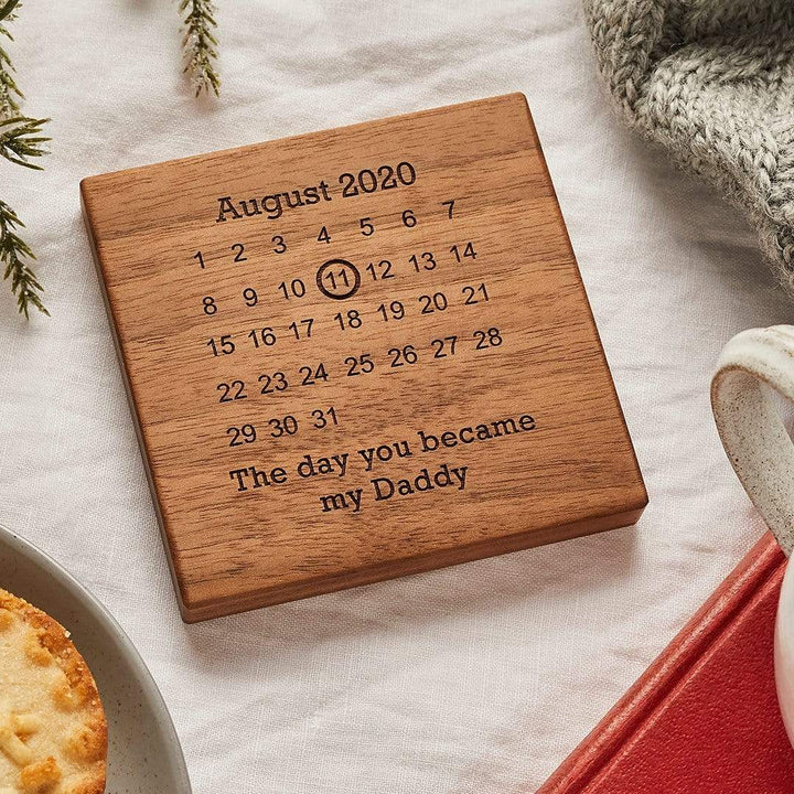 Personalised Wooden Gift Never Forget Coaster Create Gift Love