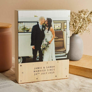 Personalised Wooden Gift Photo Block Create Gift Love