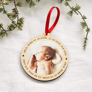 Personalised Wooden Photo Christmas Tree Decoration Create Gift Love