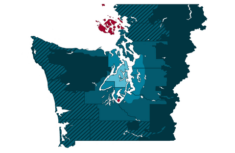 Western Washington Delivery Map