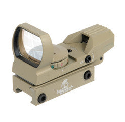 Lancer Tactical Red & Green Dot Reflex Sight w/ 4 Reticles (Tan)