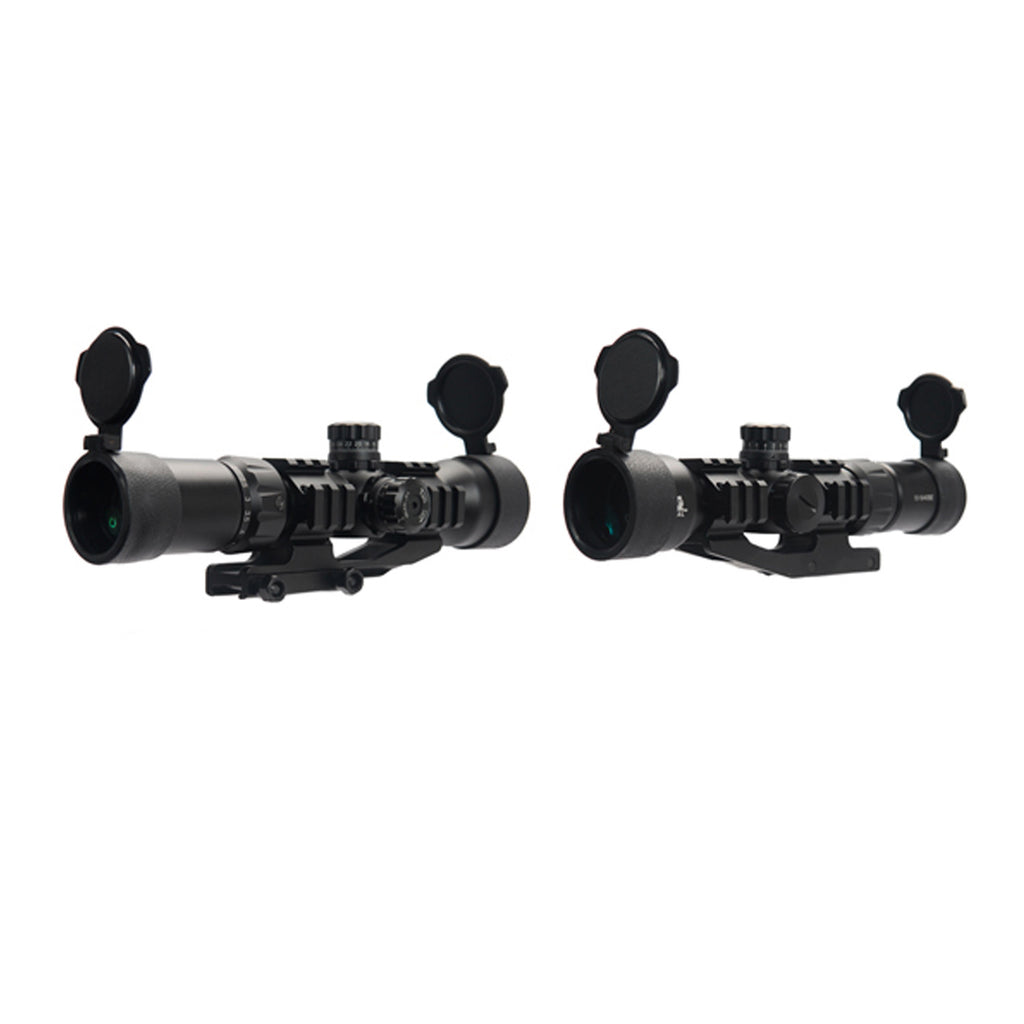 Lancer Tactical Red/Green/Blue Tri-Illuminated Scope 1.5x-5x Magnification