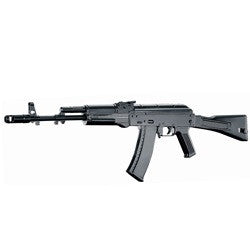 Well D74 AK-74 Plastic Gear - • LENGTH: 37.75 IN. / 28.0 IN. (FOLDED STOCK) • WEIGHT: 3.20 LB. • MODES: SAFETY, SEMI-AUTO & FULL-AUTO • SPEED: 280 - 290 FPS (0.12g BBs) • MAGAZINE CAPACITY: 400 RD. HI-CAP MAGAZINE • BATTERY: Ni-CD 8.4V650mAH STICK BATTERY (2/3A TYPE)