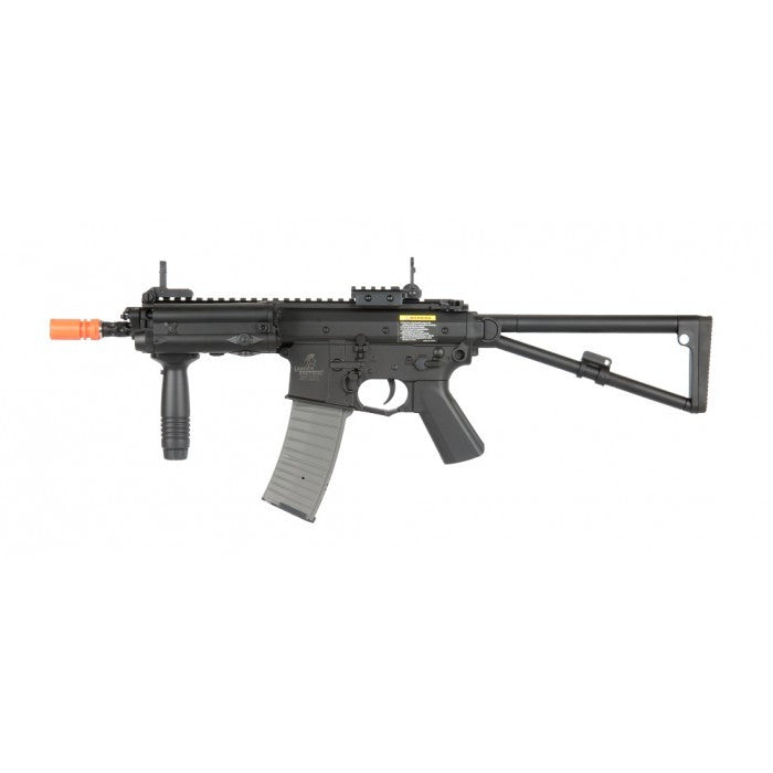 Lancer Tactical PDW AEG - FPS 370-380 RPS 12-13 Polymer Externals Metal Internals Wired to the Front Version II Gearbox Ambidextrous Selector Semi, Full Auto, Safety Functionality