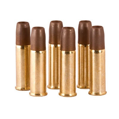 CO2 Revolver Shells - 6 Pack -       Full Metal Construction     Size: 6mm BB     1 Pack: 6 Shells     1 Round Per Shell