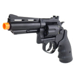 HFC GREEN GAS 4' Black Revolver - •HFC •4' Barrel •Black-Finished Body •ABS Resin and Zinc Metal Components •Green Gas Powered •Non-Blowback •6 Round Capacity •Weight 2 lbs