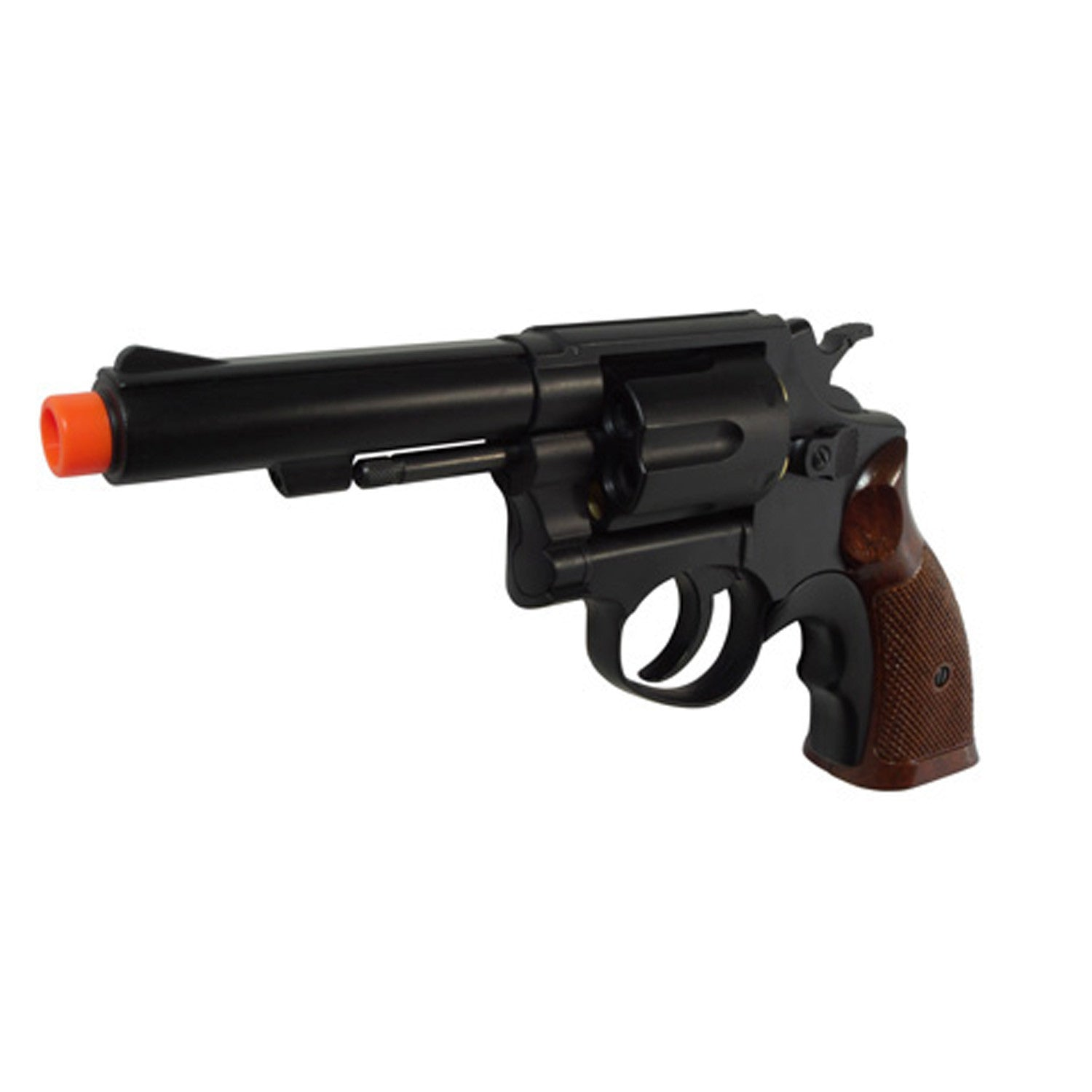 HFC HG-131B Gas Powered revolver pistol - -Full Metal Barrel M10 Gas Revolver with Metal Shell Set and Hard Guncase.  -FPS: 250 FPS  - Material ABS / Metal  -  Length - 230mm Barrel Length  - 6 rounds