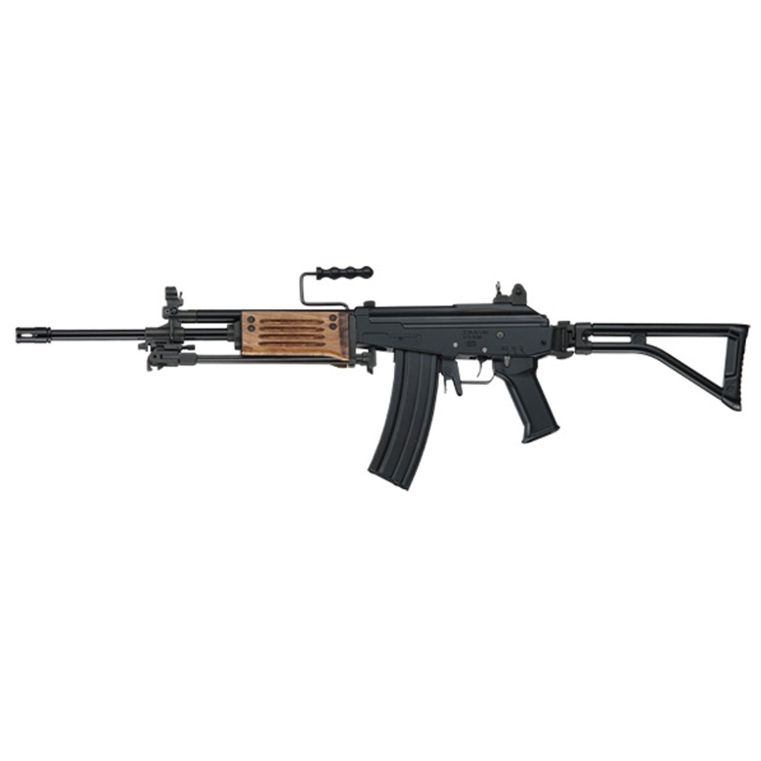 ICS ICAR Arm (Wood Handguard) - Motor: Motor types vary by request ! Body: Steel、Aluminum Magazine capacity: 450 rounds Muzzle velocity: 395fps