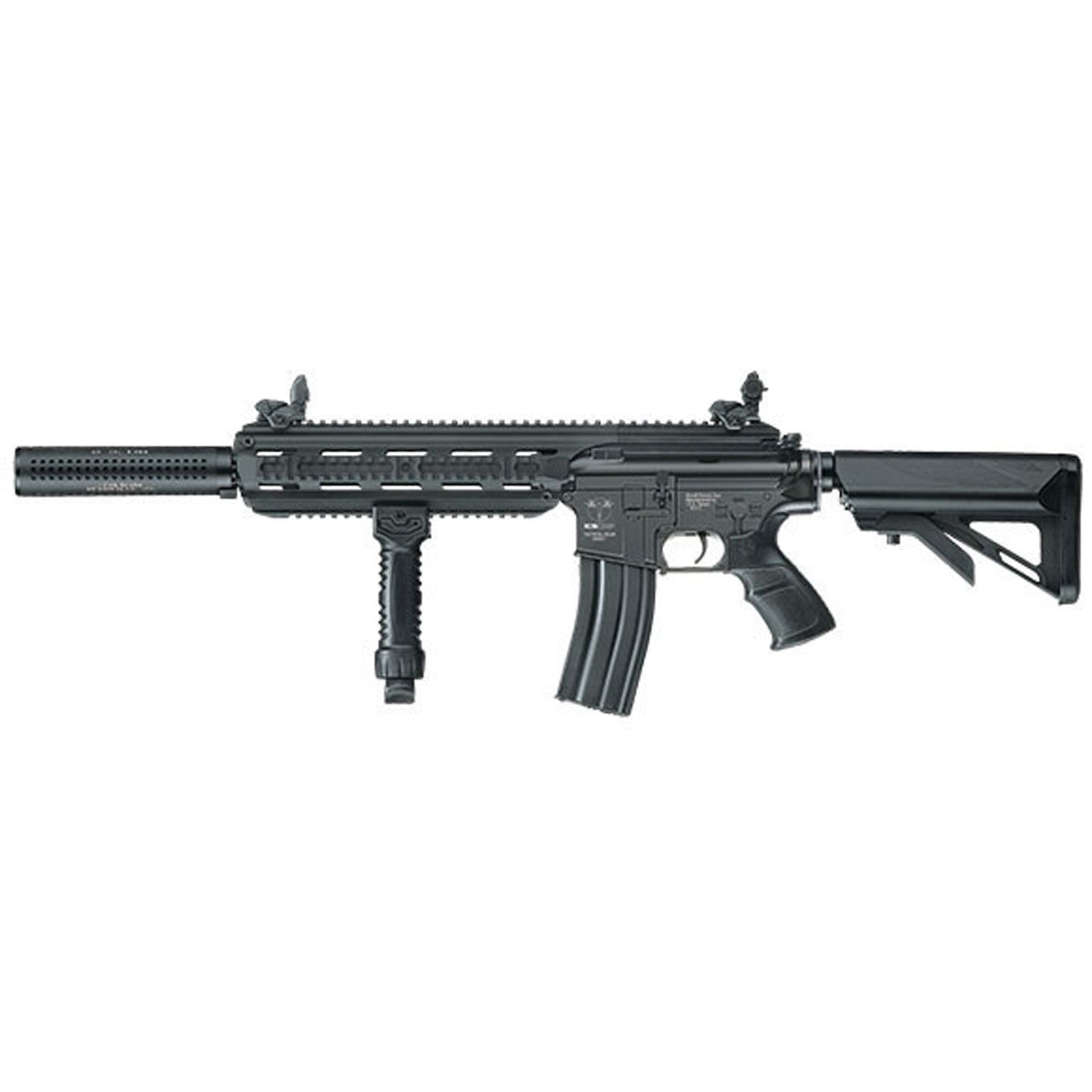 ICS CXP-16 Airsoft AEG ICS-238 (Long Version, Black) - Semi & Fully Auto, ICS CXP Series, Full Metal Receiver, CNC Aluminum 320mm CXP16 Tactical RIS Handguard, Nylon Fiber 6 Position Retractable Crane Stock, Non Slip texture Pistol Grip