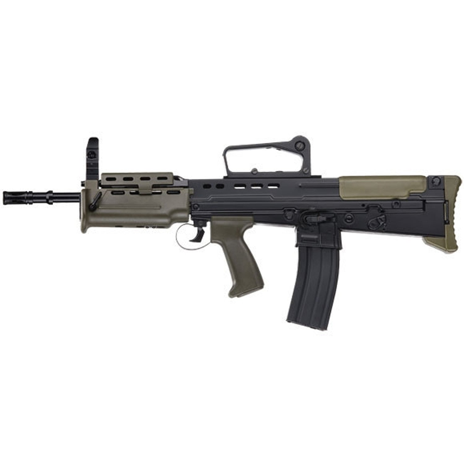 ICS L85 A2 CARBINE - 400 fps (0.2 g BB) / Range 180-220 feet, - Brand New Gearbox Set with Adjustable Spring Strength - Full Metal Body and Gearbox