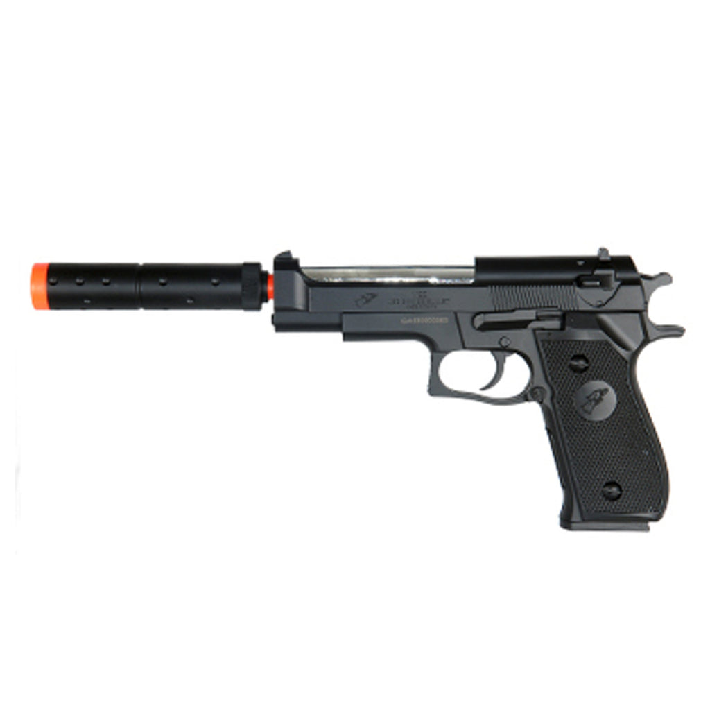 M2 Spring Airsoft Pistol with Mock Silencer