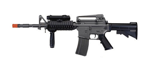 Fully Automatic M4 RIS Airsoft AEG Rifle w/ PEQ Box and Tactical Foregrip