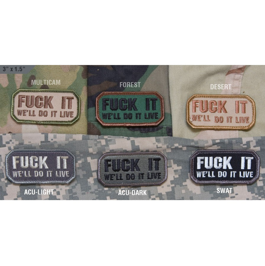 Mil-Spec Monkey Fuck It - We'll do it Live Patch
