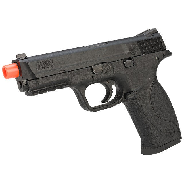 M&P CO2 Powered Full Size Blow Back Pistol -       Metal Construction Inside & Metal Magazine     Polymer Lower     Semi Auto     Rail Frame For Tactical Options     CO2 Powered     350 FPS     15 BB Magazine Capacity     Comes with 60-Day Manufacturer's Warranty