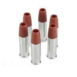 EF CO2 Revolver Shells - 6 Pack -       1 Pack: 6 Shells     Size: 6mm     Metal Construction with Polymer Tip     1 BB Per Shell
