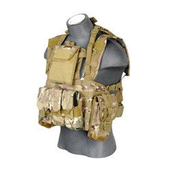 Lancer Tactical Modular Chest Rig and Large Hydration Pouch MULTI CAM