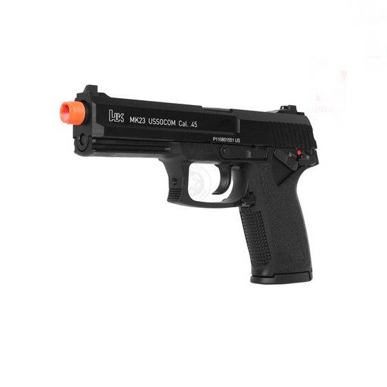 H&K MK23 USP SOCOM SPRING PISTOL -       SPRING POWERED     THICK POLYMER CONSTRUCTION     VERY ACCURATE FPS: 220 (.12 BB'S)     FULLY TRADEMARKED BY HK     VERY REALISTIC FEEL