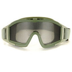 UKARMS Tactical Metal Mesh Goggles for Airsoft in OD Green