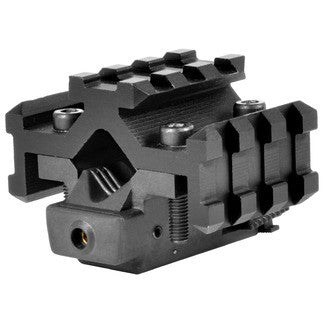 Tactical Red Laser Sight with Universal Tri-Rail Barrel Mount