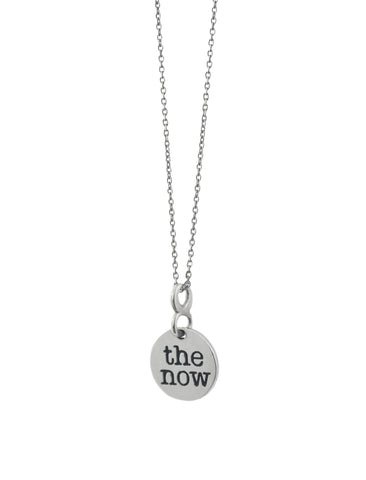 the now full circle necklace - full circle necklace - the classic. sterling silver the now circle pendant, hand-dipped in 18 karat gold. suspended by the infinite, connected to you.