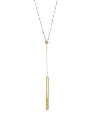 raise the bar diamond lariat necklace