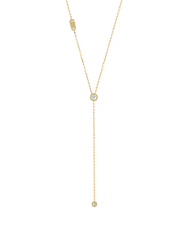 shine on diamond lariat necklace