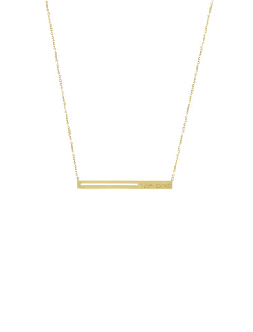 raise the bar horizontal pendant necklace