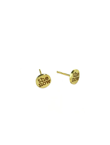 thumbtack logo stud earrings