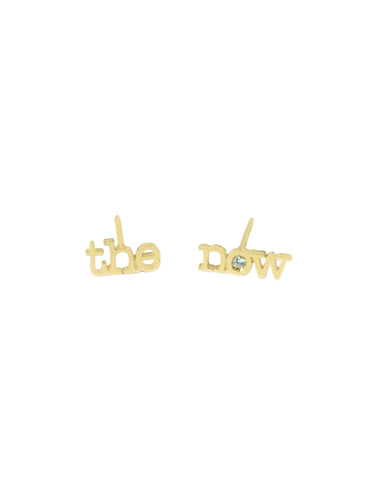 messenger diamond stud earrings