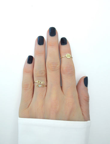 messenger diamond split ring