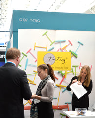 T-Tag plastic treasury tag stand London Stationery Show 2015