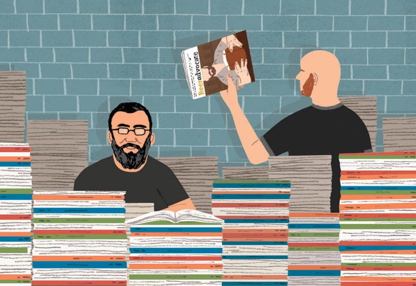"Alström Bros w/ 10 Years of BeerAdvocate magazine. Illustration by Michael Parkin"" title=""Alström Bros w/ 10 Years of BeerAdvocate magazine. Illustration by Michael Parkin."