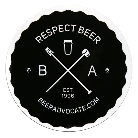 "Respect Beer ""Hipster"" Sticker (4 inch)"