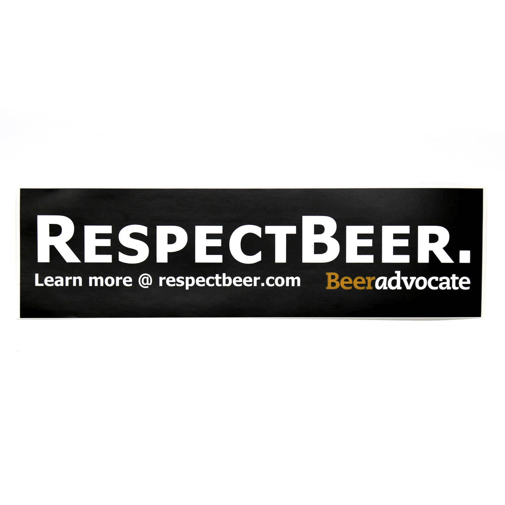 Respect Beer Bumper Sticker (Old-School)