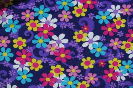 arm sleeves purple flower power