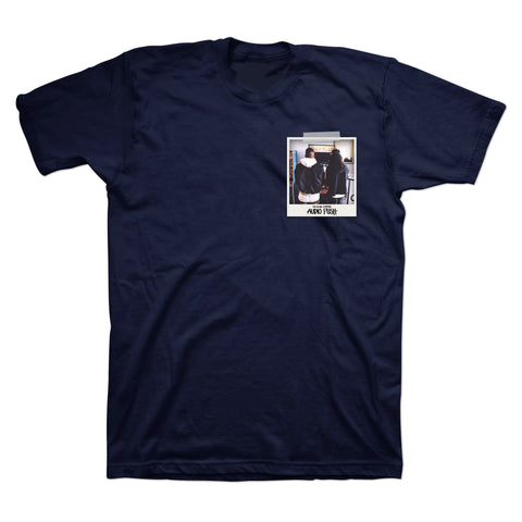 Audio Push Pocket Photo T-Shirt in Dark Navy