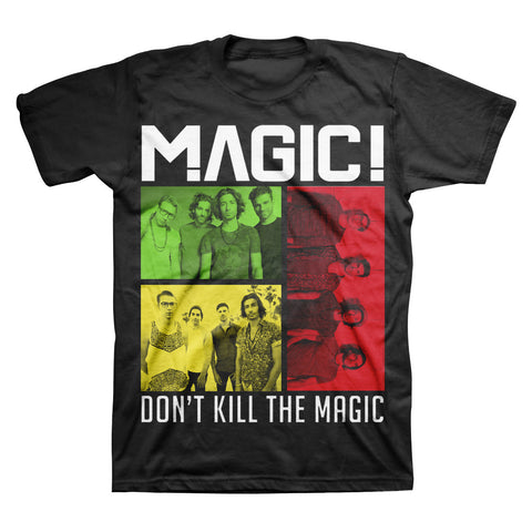 Don't Kill the MAGIC! Rasta Group T-Shirt in Black