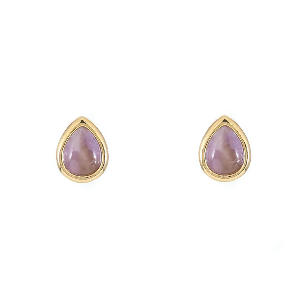 Amethyst Tear Drop Studs