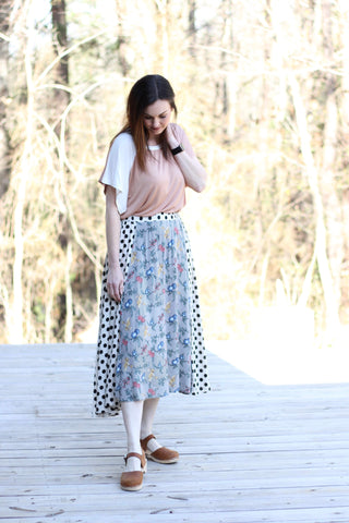 *Mixed Print Skirt