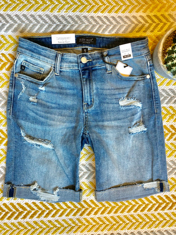 *Medium Blue Denim Shorts