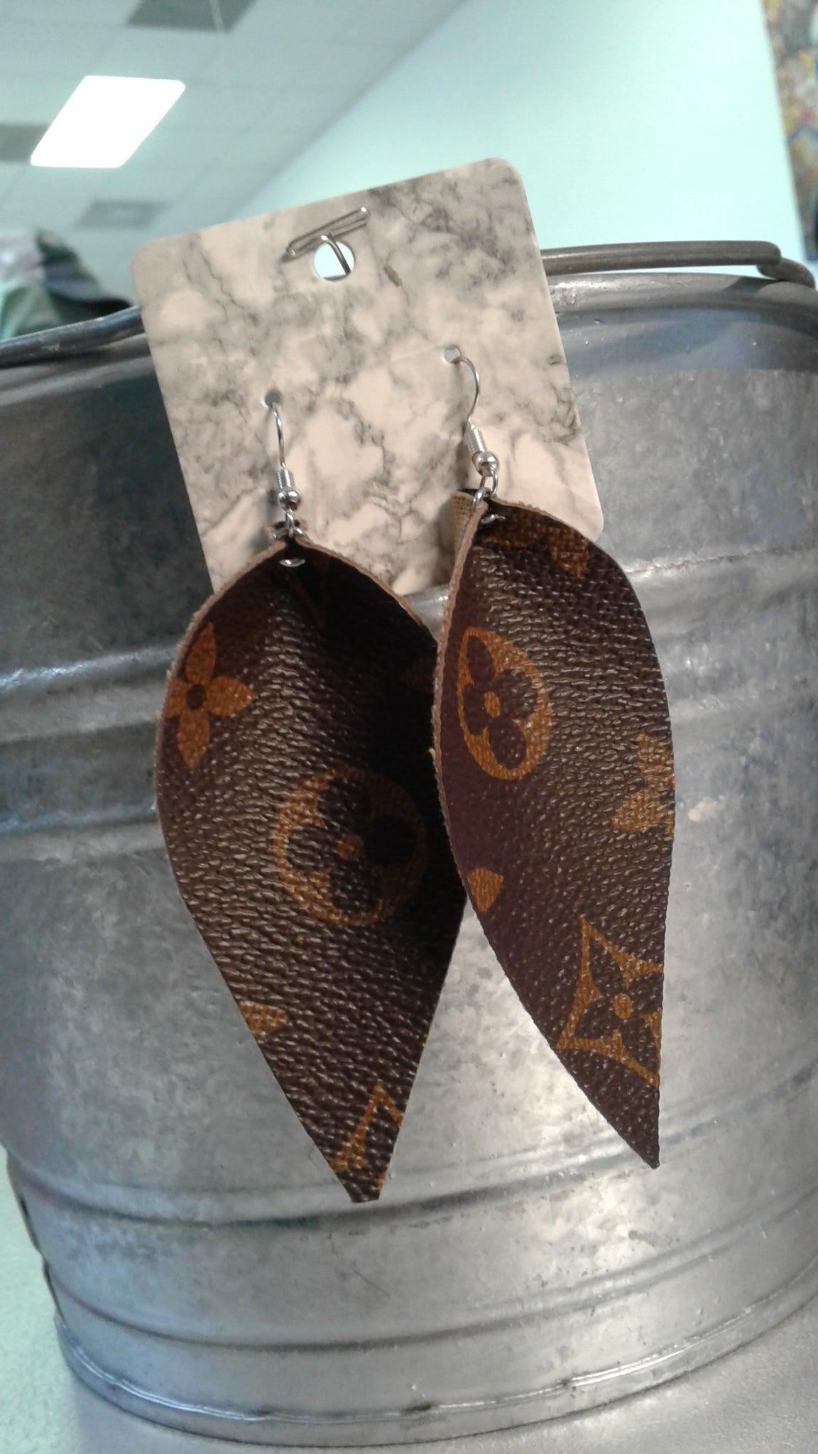 LV Leather Earrings