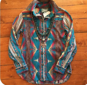 Silverado Button Down Turquoise