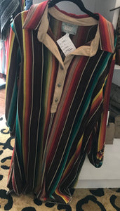 Silverado Espresso Serape Dress