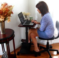 "S2015 Fits in any corner- 20"" Wide Height Adjustable Portable Laptop Table"