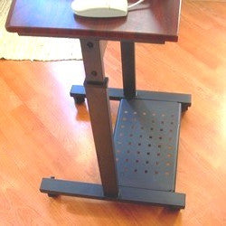 "S2015 20"" Wide Height Adjustable Portable Laptop Table with bottom shelf"