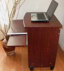 "2718 27"" wide compact computer desk with keyboard tray"