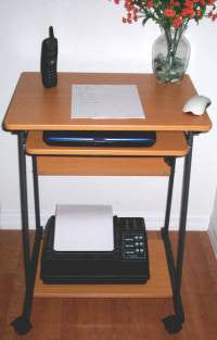 STS5806 24 Mini computer and laptop desk table with wheels